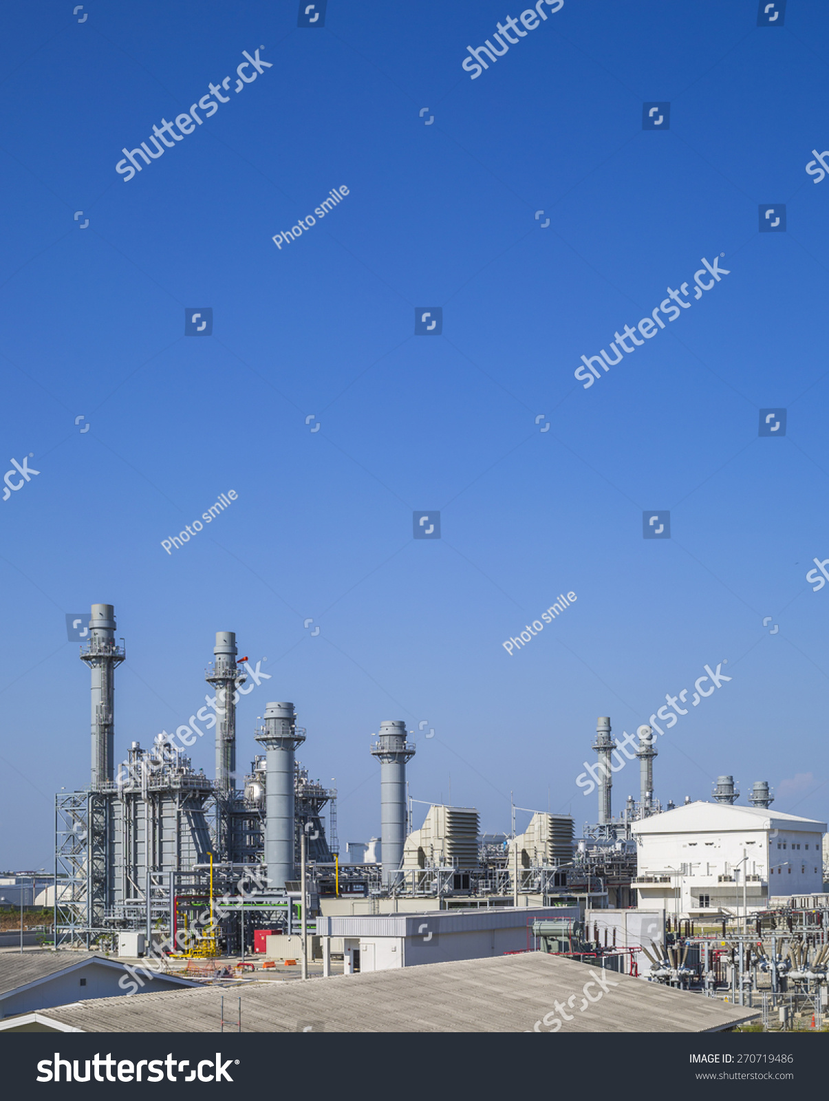 Gas Turbine Power Plant Blue Sky Stock Shutterstock