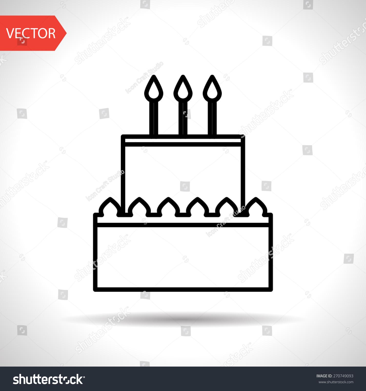 Vector birthday cake icon food icon stock vector 270749093 vector birthday cake icon food icon eps10 buycottarizona