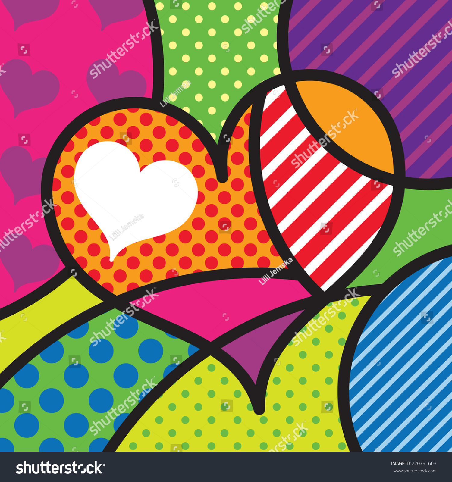 Heart Shape Love Sexy Modern Pop Art Artwork For Your Design Stock Vector 270791603