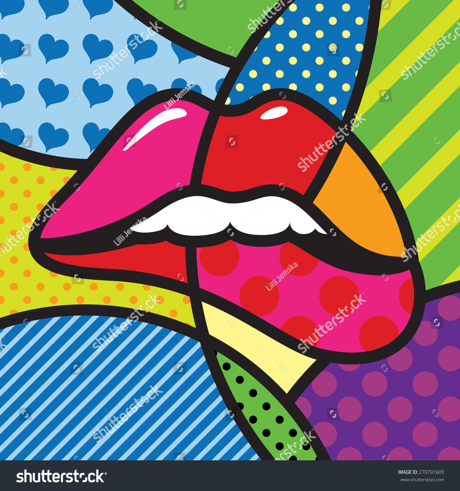 lips sexy kiss love modern pop stock vector 270791609 shutterstock. Black Bedroom Furniture Sets. Home Design Ideas