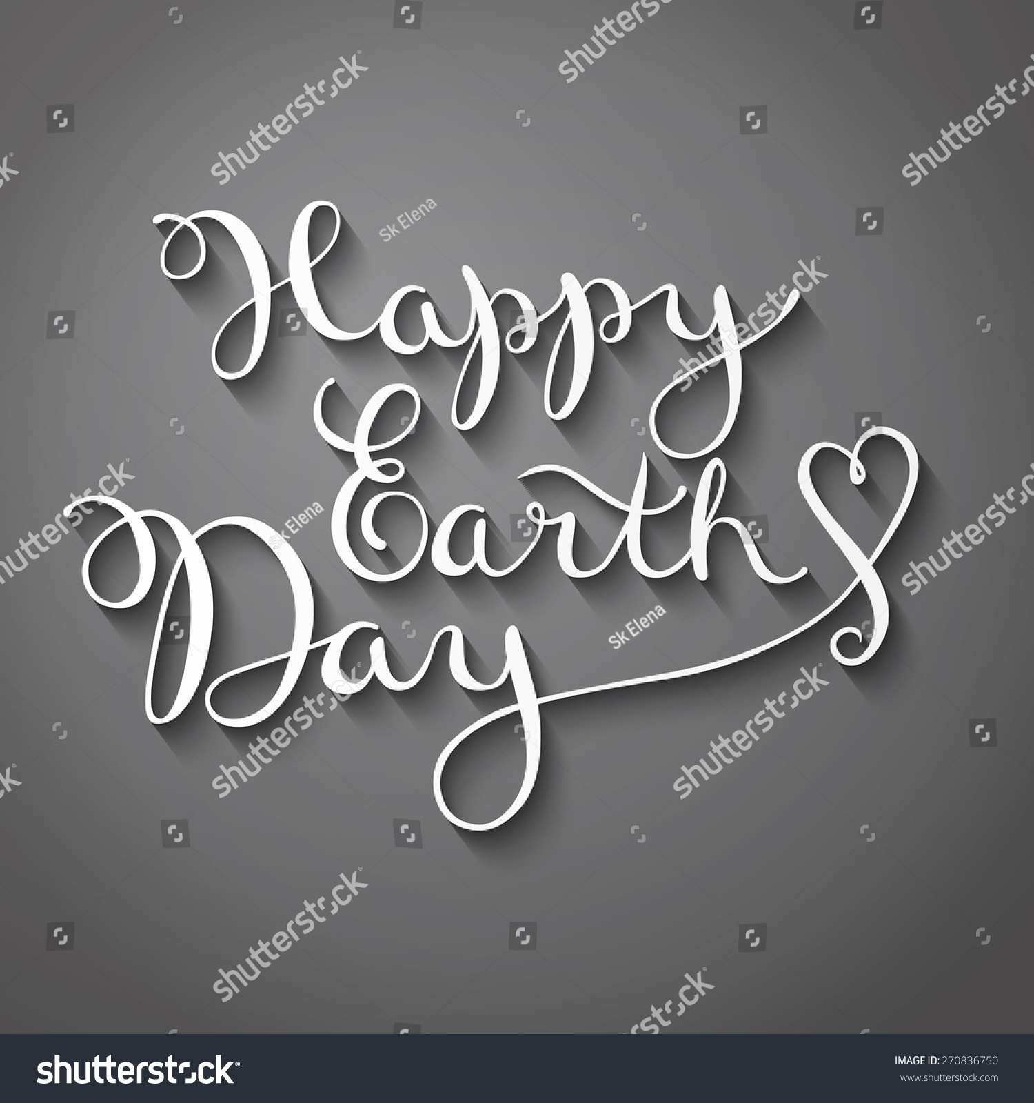 Happy earth day handmade calligraphy vector stock