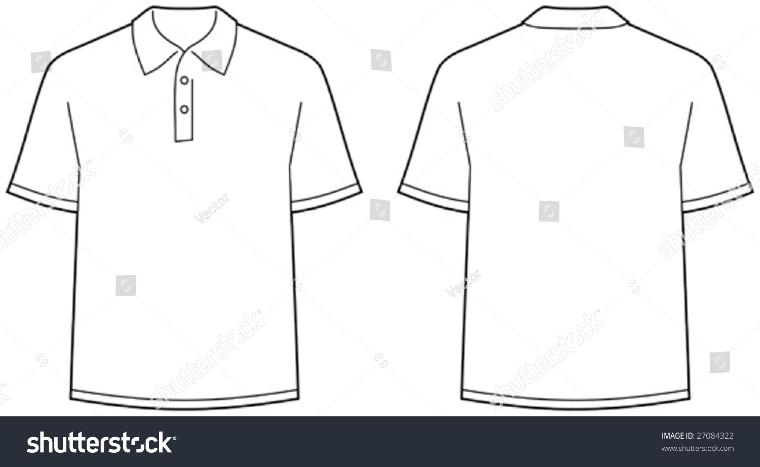 Royalty Free Polo Shirt Front And Back View 27084322 Stock