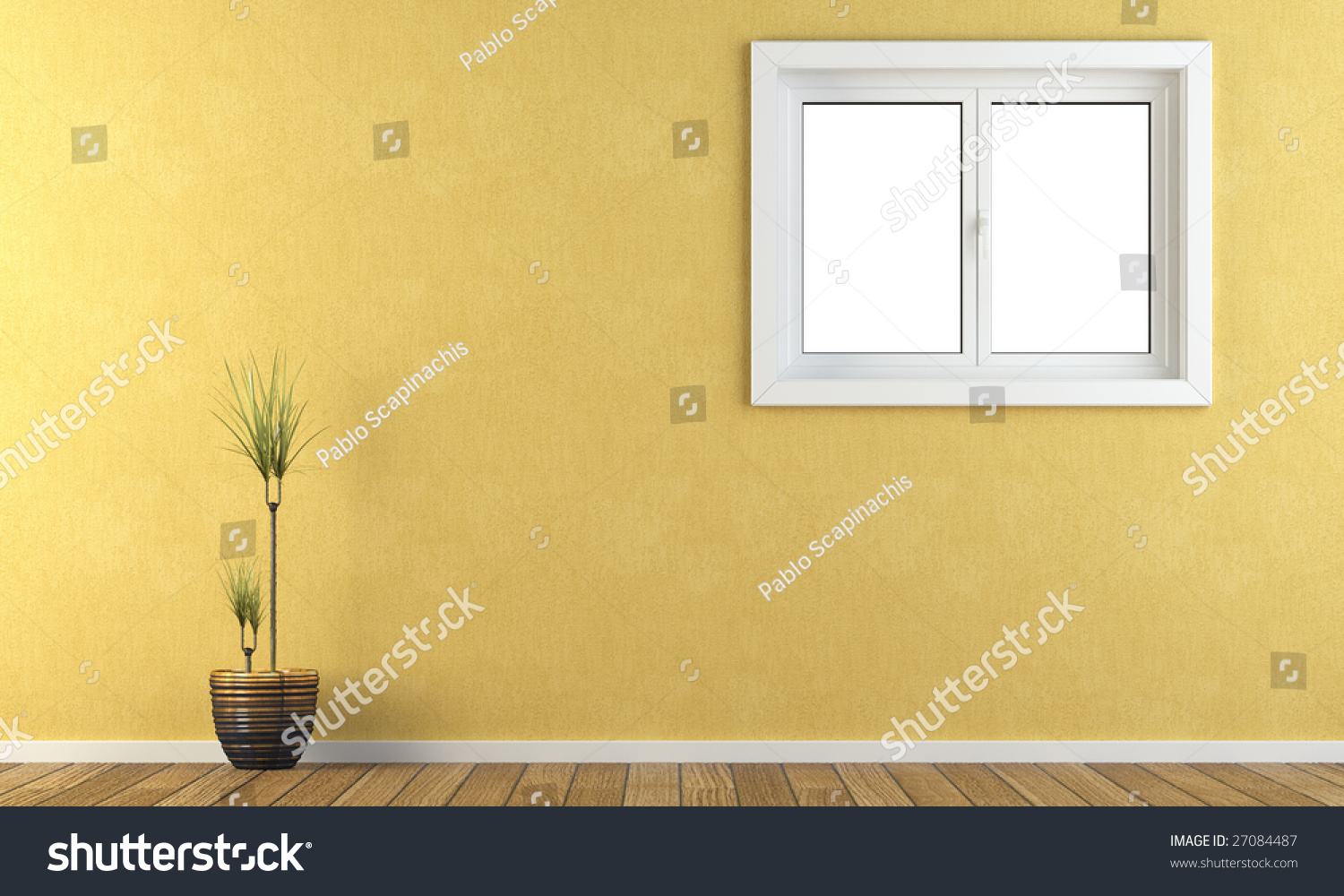 interior wall with window frosted interior yellow wall with window yellow wall window stock illustration 27084487 shutterstock