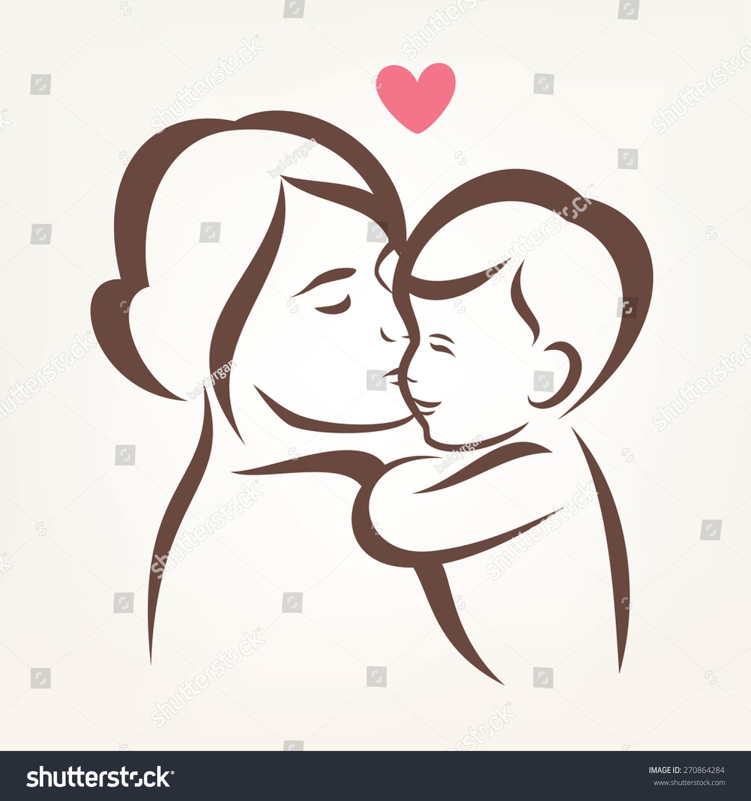 Рисованные картинки сын и мама 19 фотография