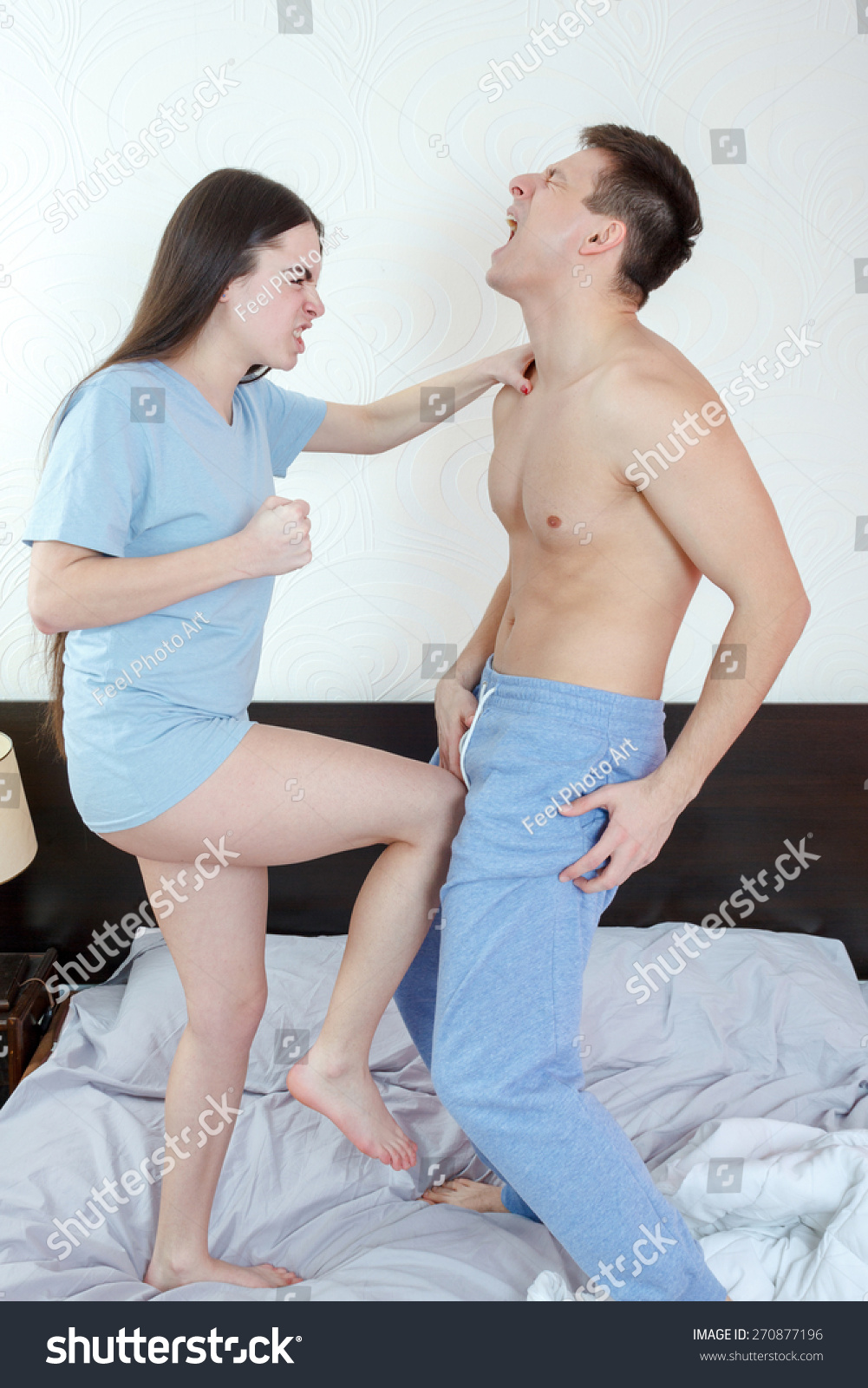 Photo Young Angry Woman Panties Kicking Stock Photo 270877196 - Shutterstock-4119