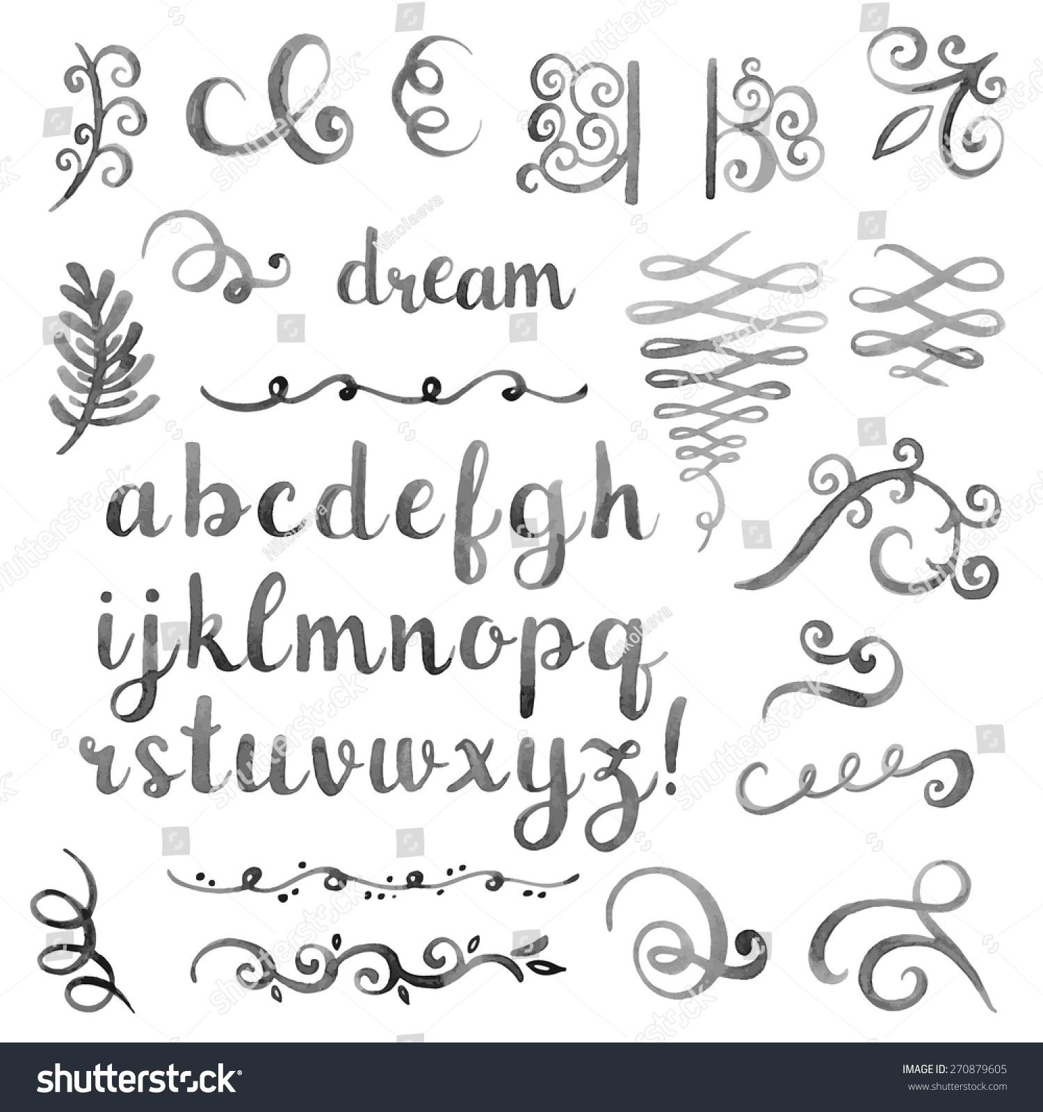 vector hand drawn calligraphic - photo #10