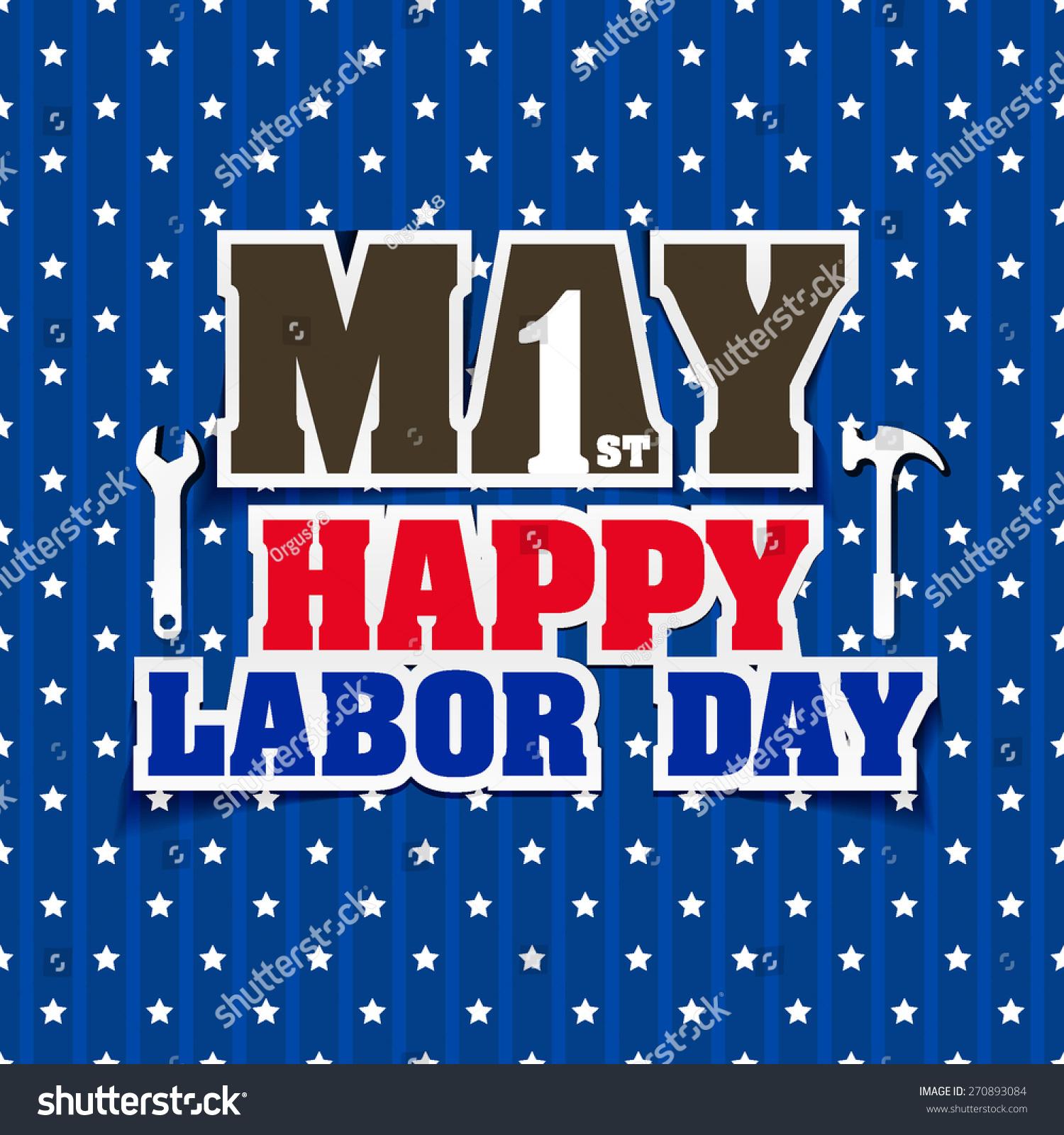 Labor Day Card Design Vector Illustration Ez Canvas