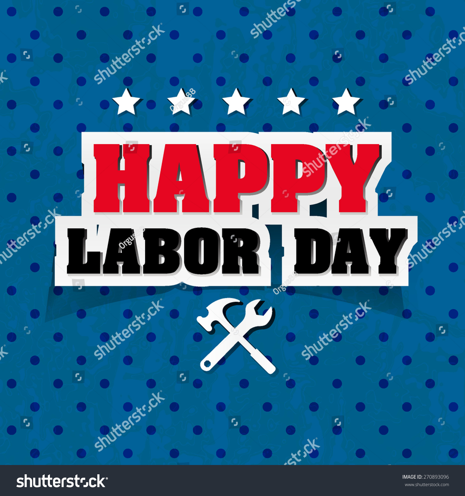 Happy Labor Day Greetings Cards Typographical Stock Vector Royalty