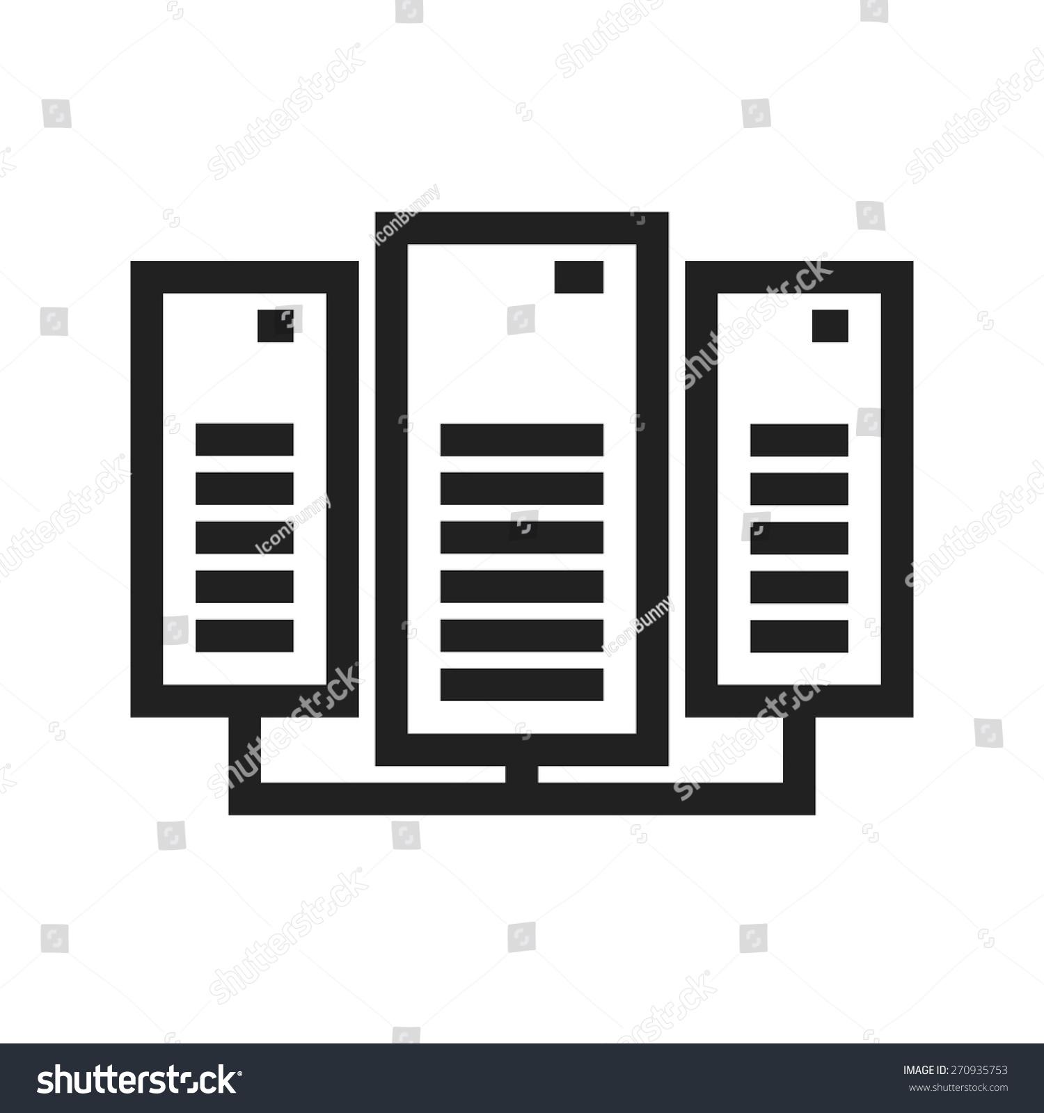 Data Center Network Server Icon Vector Stock Vector (Royalty