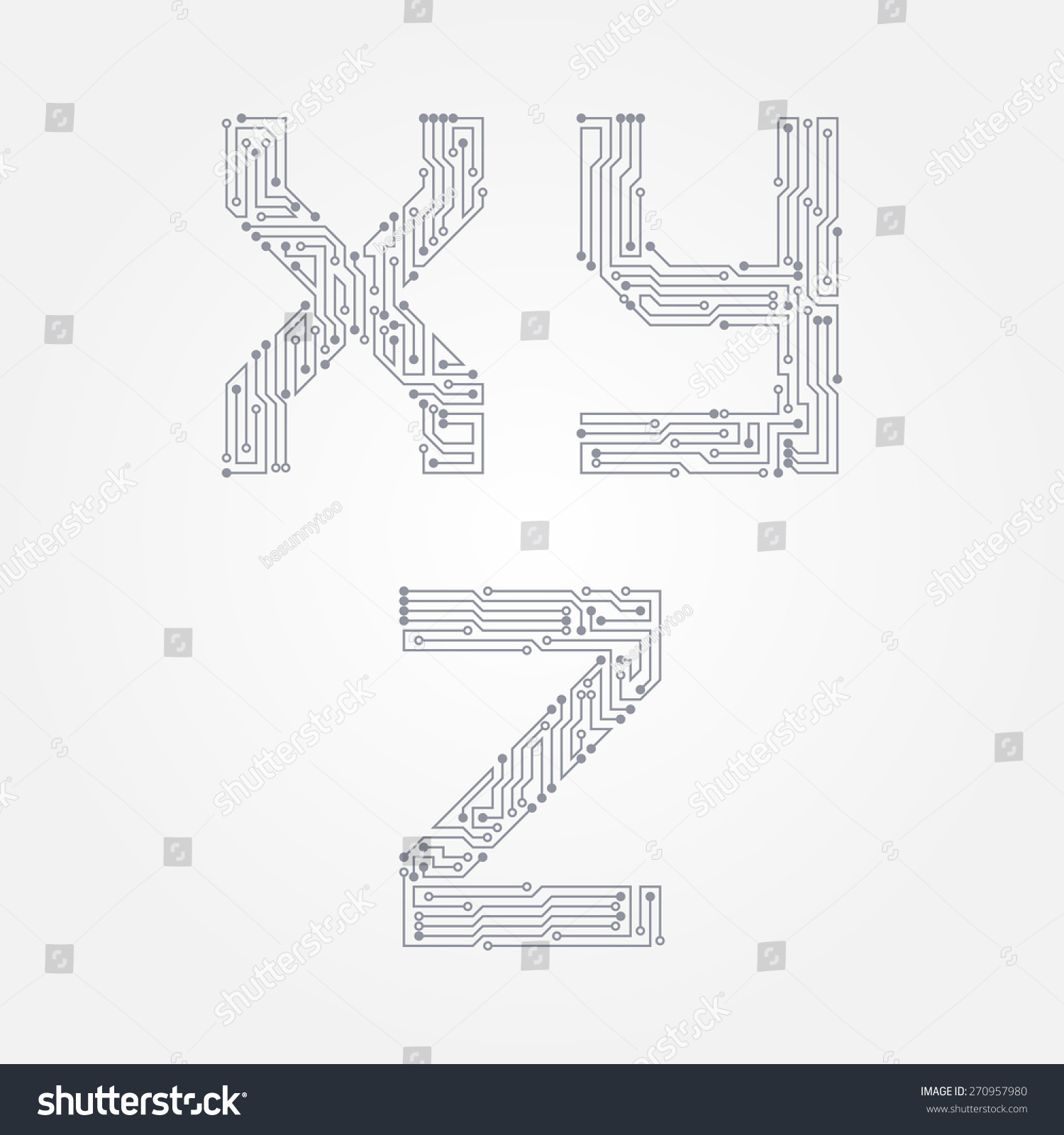 Astounding Circuit Board Form X Y Z Stock Vector Royalty Free 270957980 Wiring 101 Breceaxxcnl