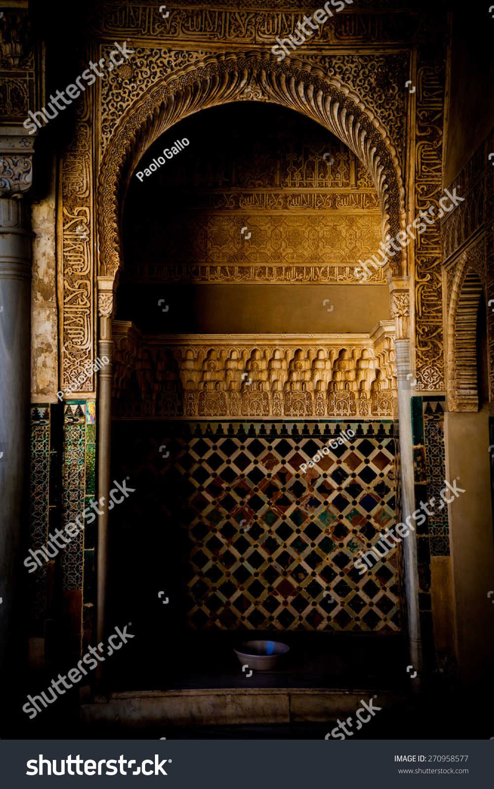 Detail of ancient door in alhambra unesco site spain for Alhambra decoration