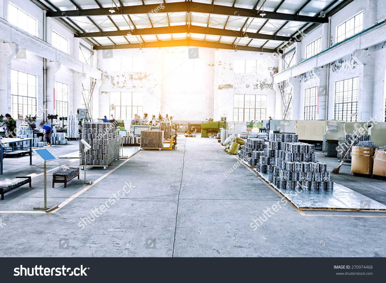 Factory Workshop Interior Machines Stock Photo 270974468