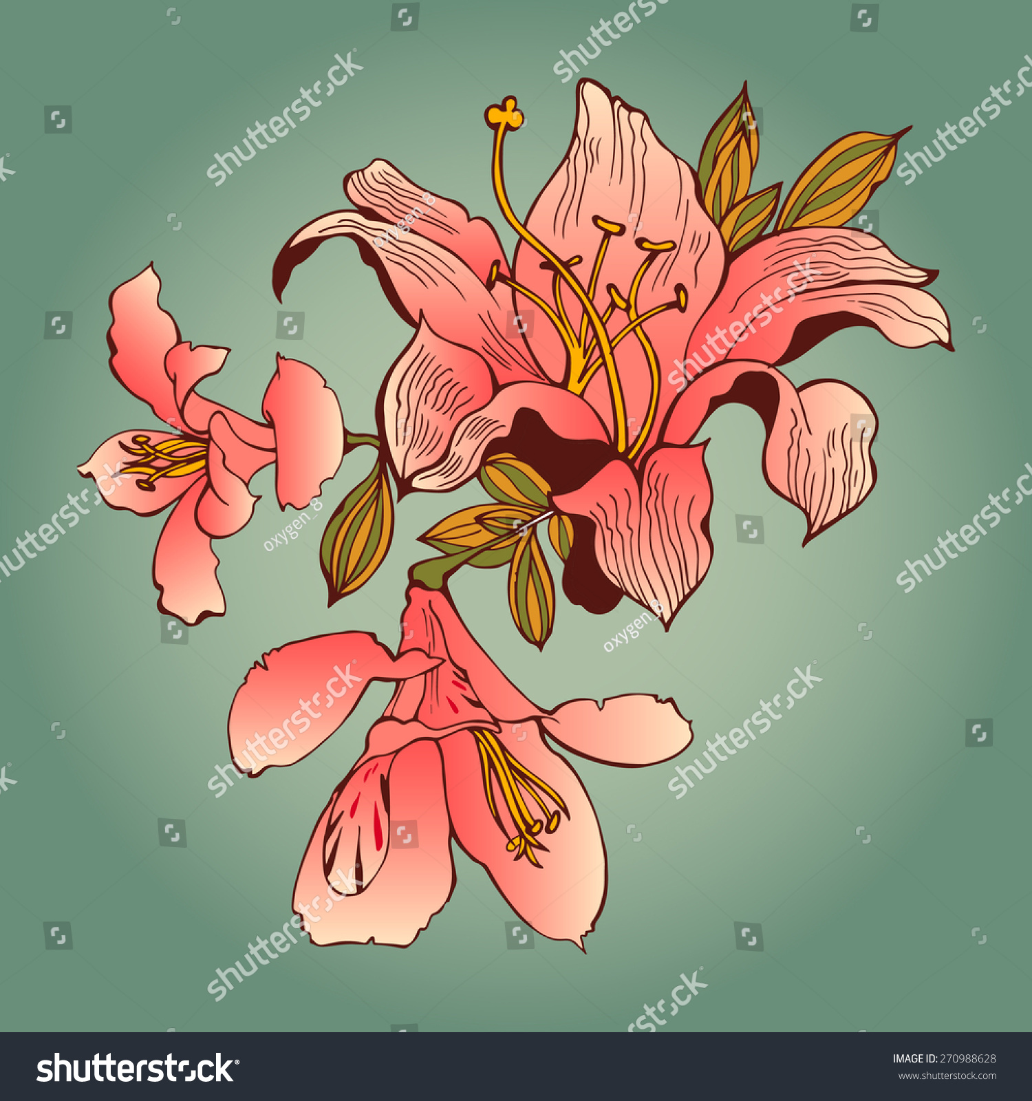 Beautiful flower art background decorative floral stock vector beautiful flower art background decorative floral elements for t shirt or other uses izmirmasajfo