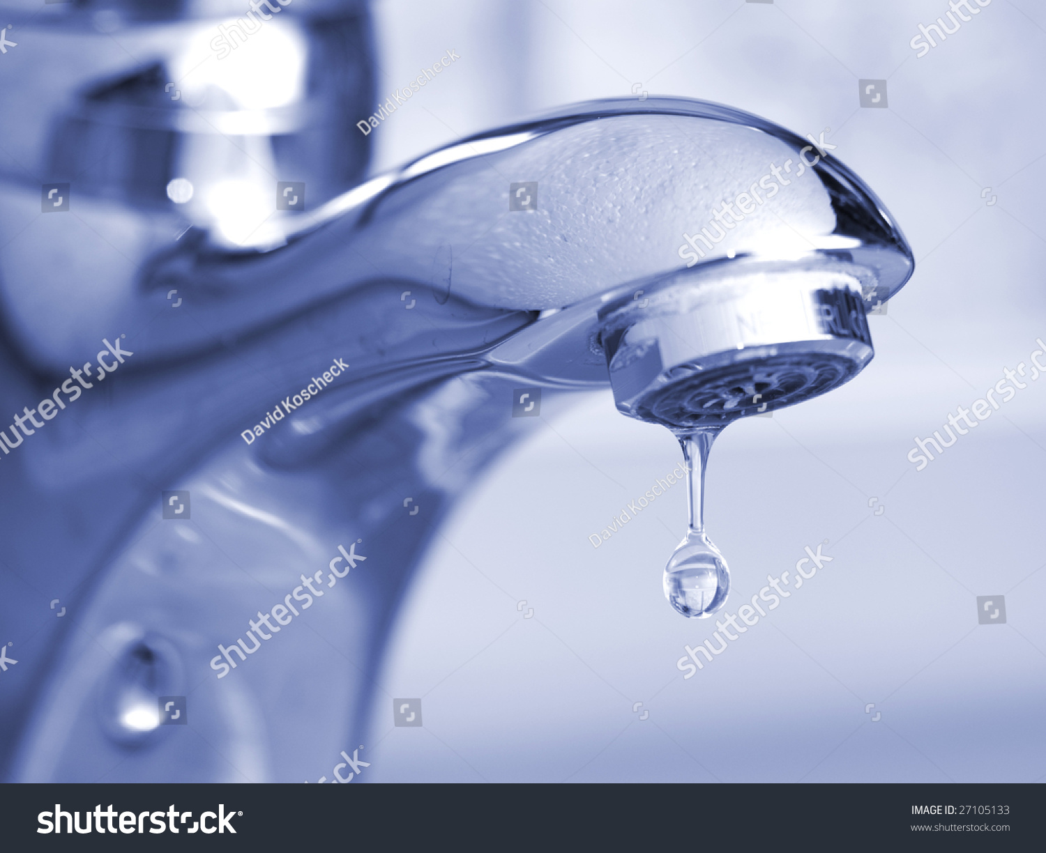 Leaking Faucet Stock Photo (100% Legal Protection) 27105133 ...
