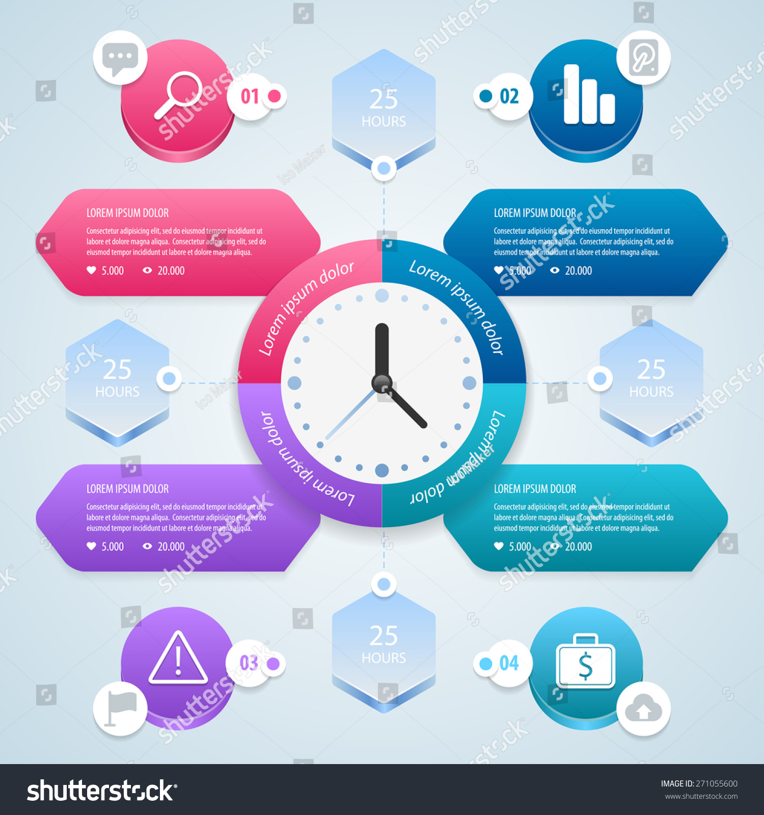 infographic time management planning infographics template stock