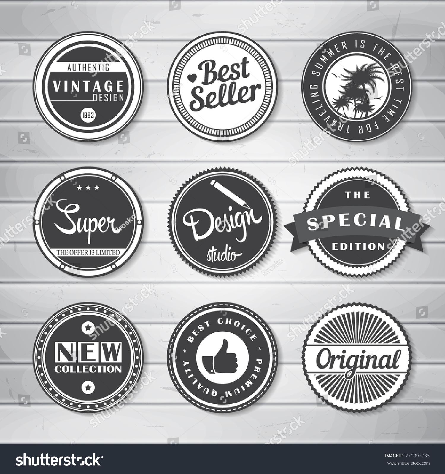 Vintage Labels Template Set Super Original Stock Vector Royalty