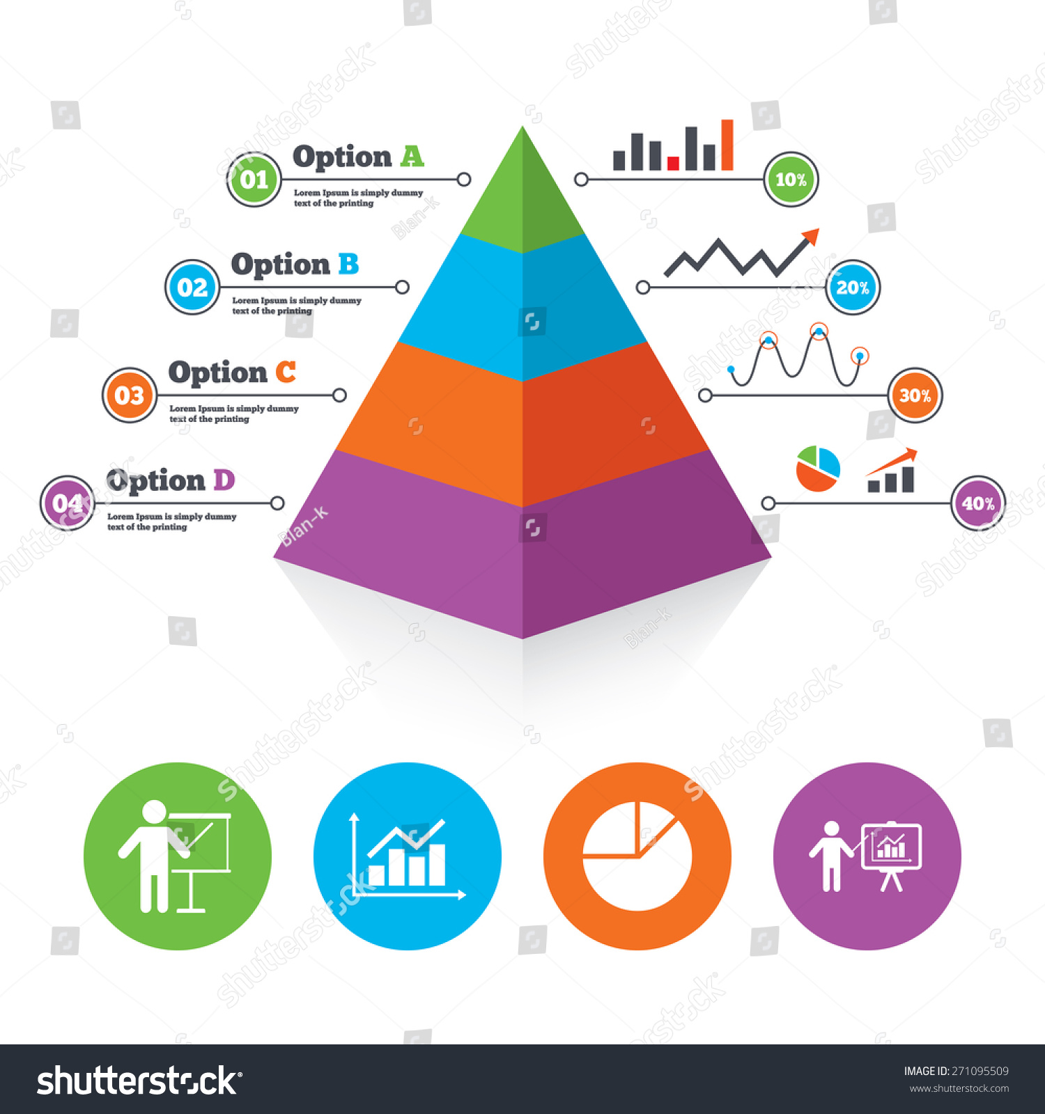 pyramid chart template  diagram graph pie chart icon  presentation    save to a lightbox