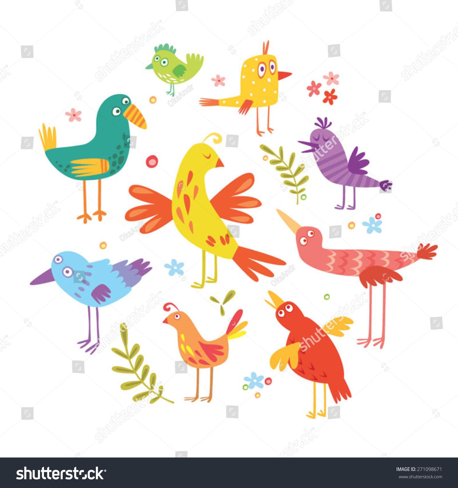fun birds kids stock vector 271098671 shutterstock