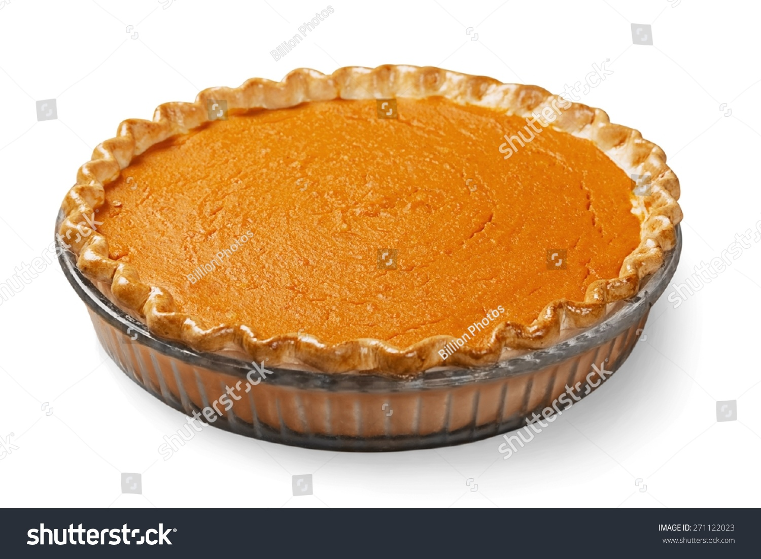 Pumpkin Pie Pie Isolated