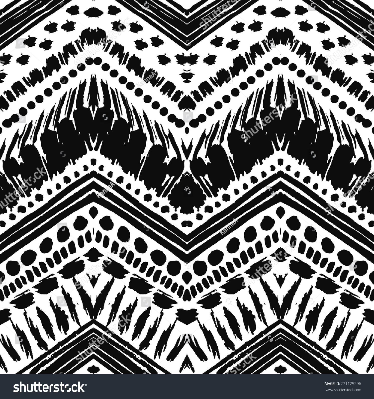 hand drawn painted seamless pattern vector stock vector 271125296 shutterstock. Black Bedroom Furniture Sets. Home Design Ideas