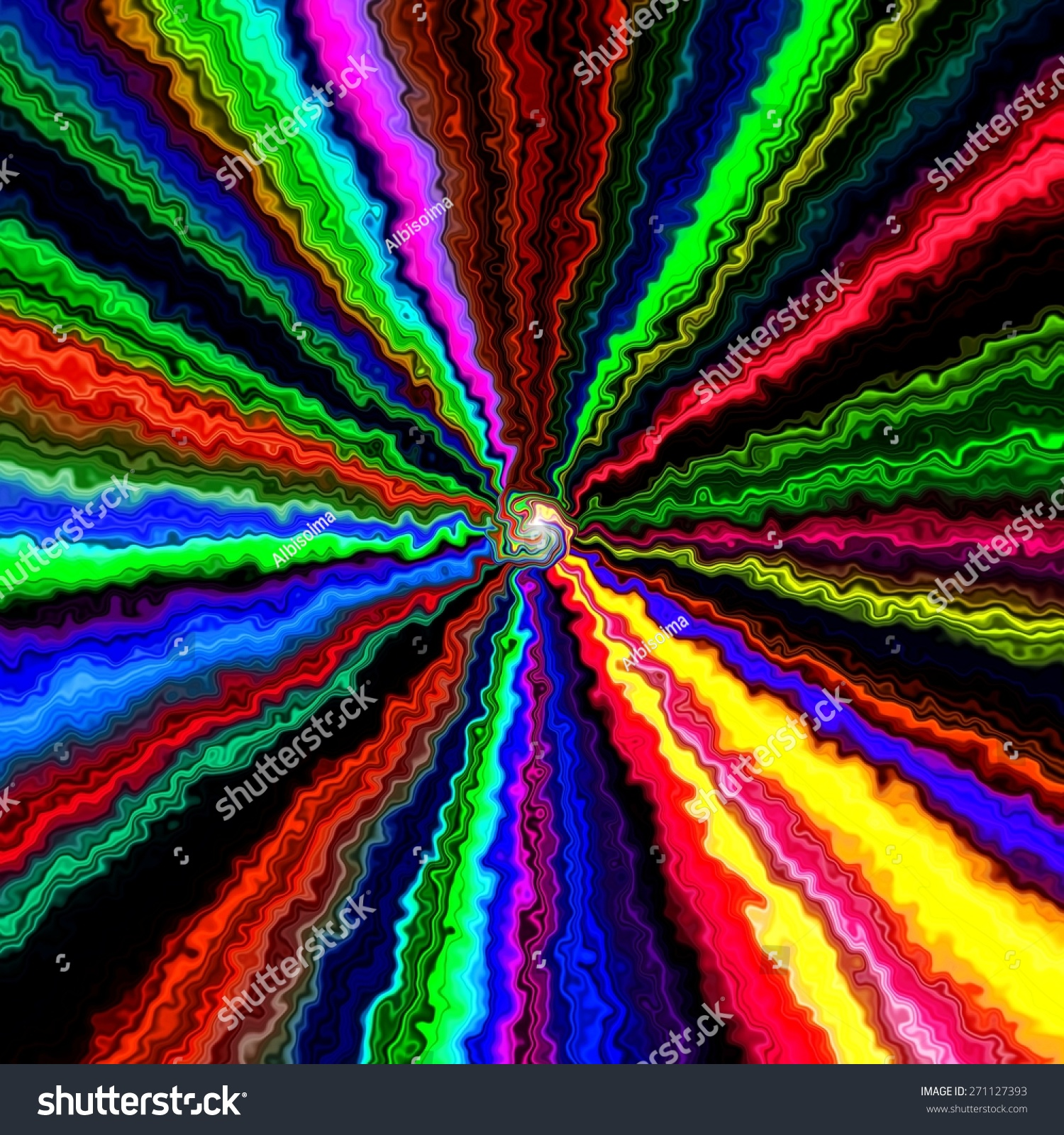 Crazy Abstract Melted Colorful Shapes As Wallpaper Stock