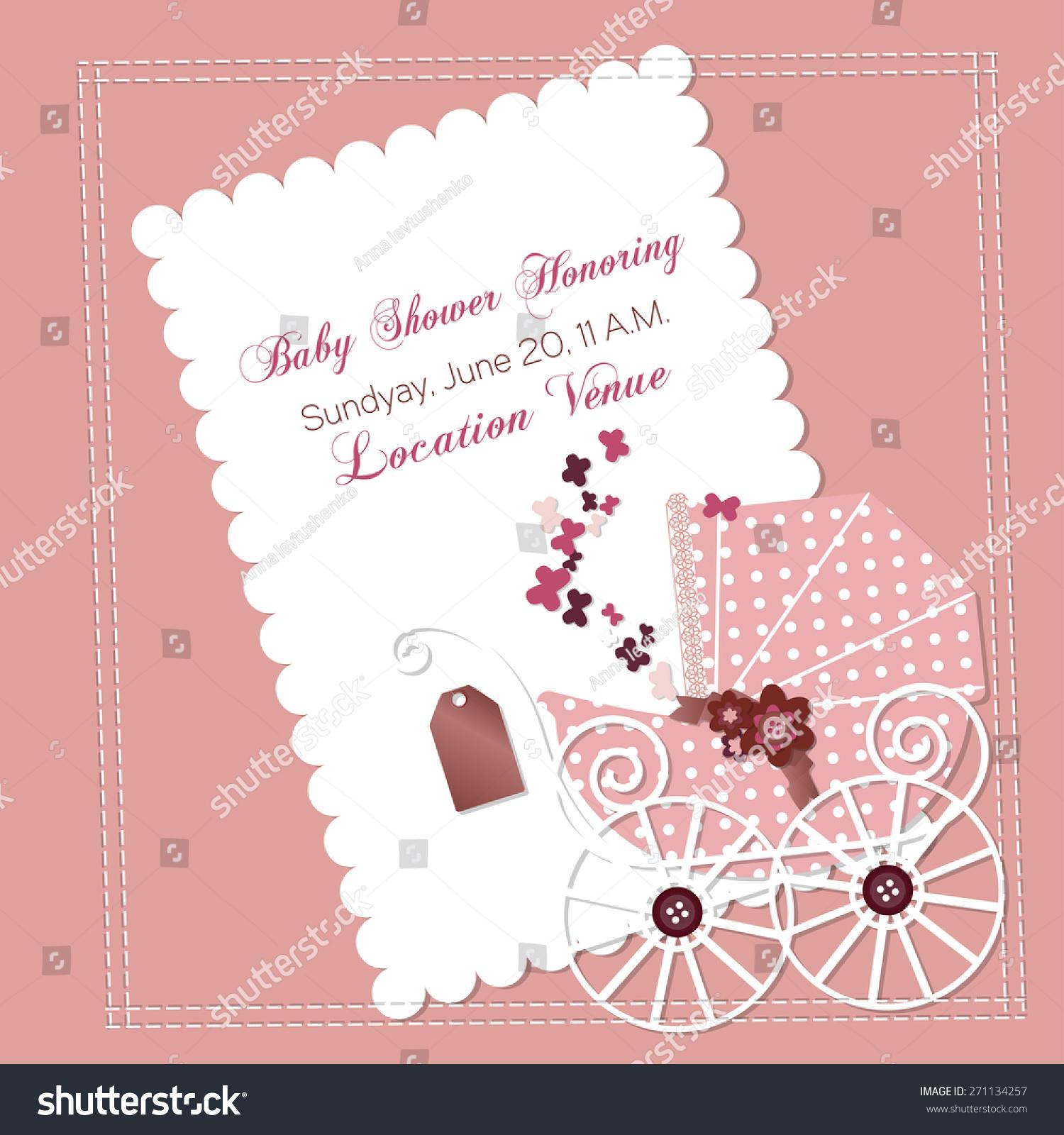 baby girl shower invitation templates