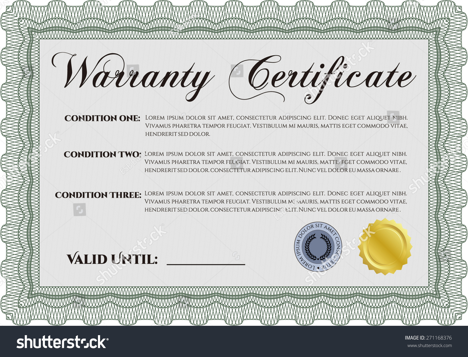 guarantee certificate template