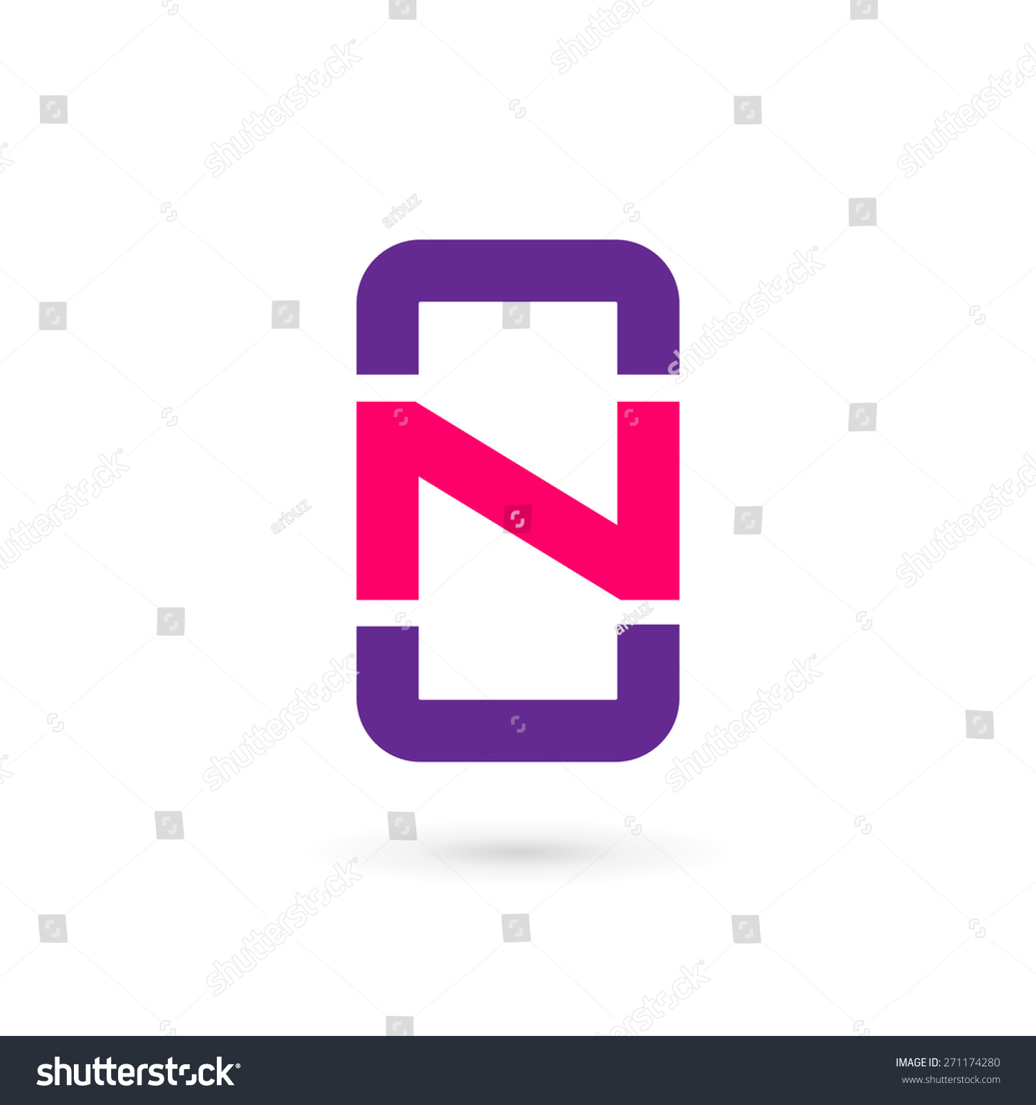 Mobile Phone App Letter N Logo Stock Vector 271174280 ...