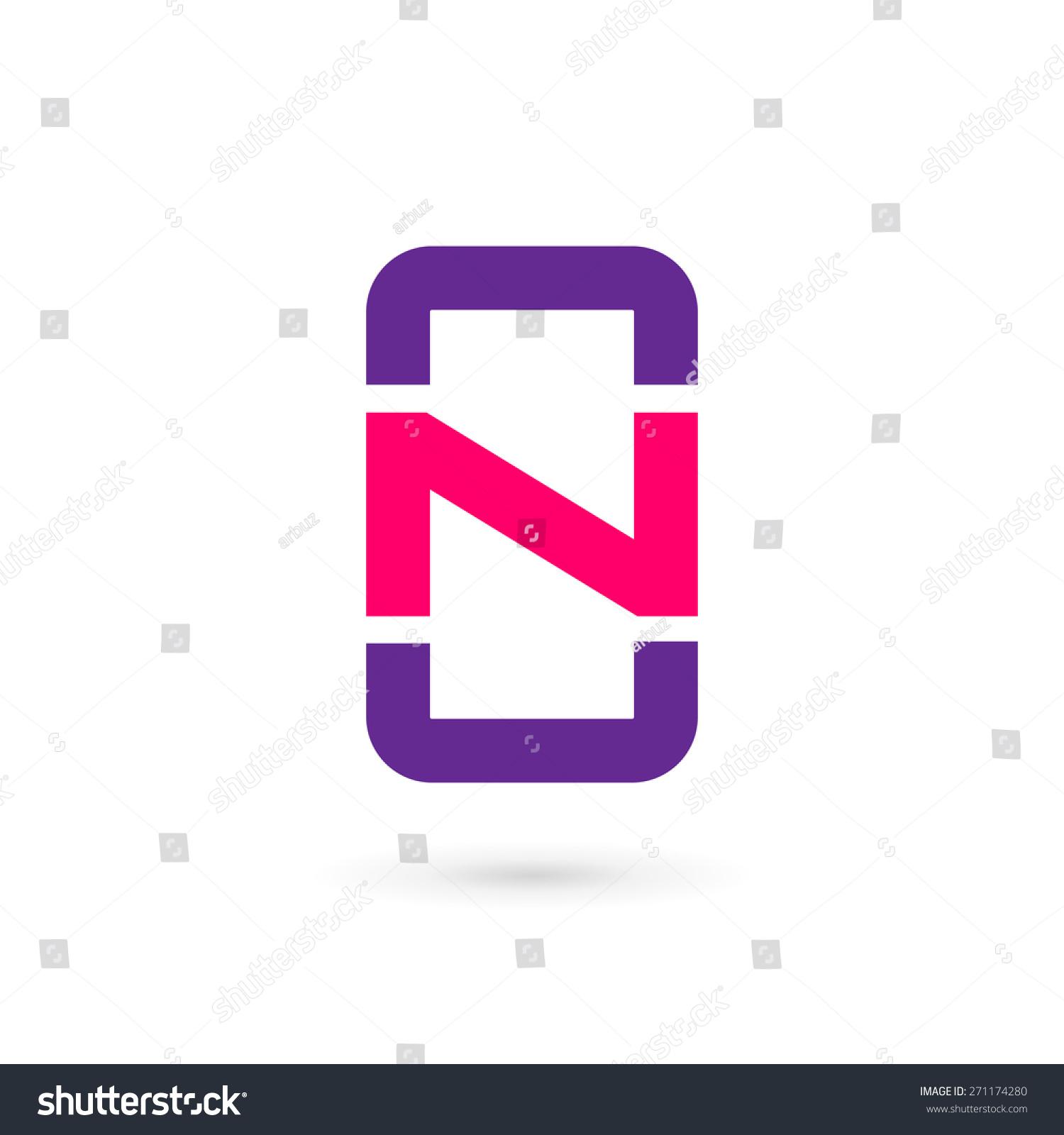 Mobile Phone App Letter N Logo Stock Vector 271174280