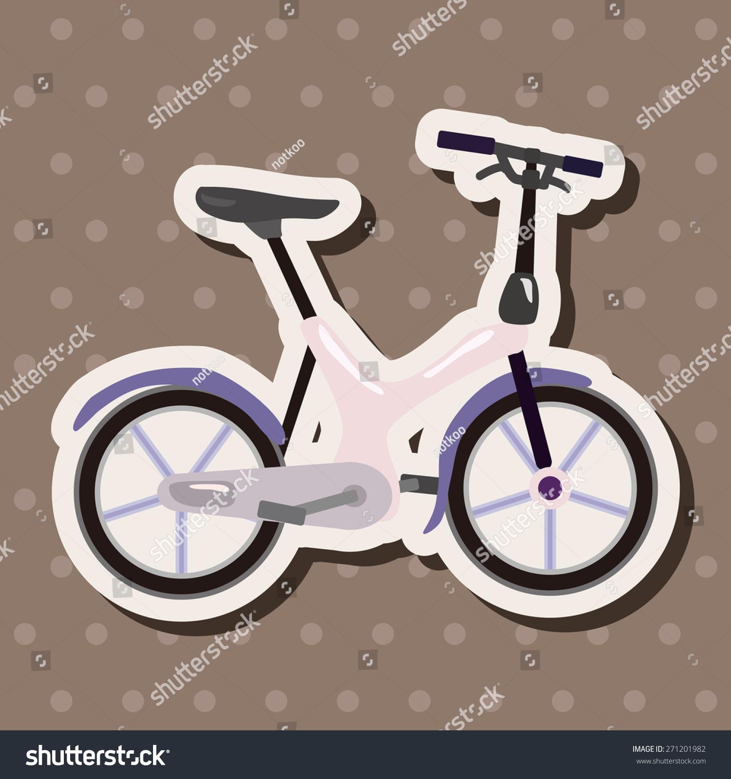 Bicycle cartoon design cartoon stickers icon