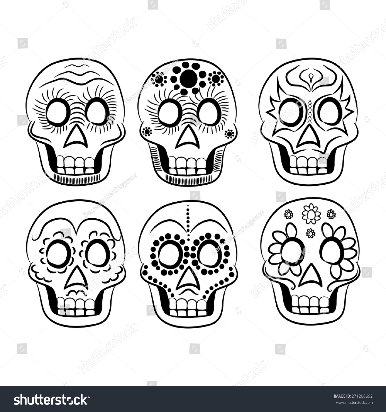 mexican masks black and white for cinco de mayo on a white background - Cinco De Mayo Skull Coloring Pages