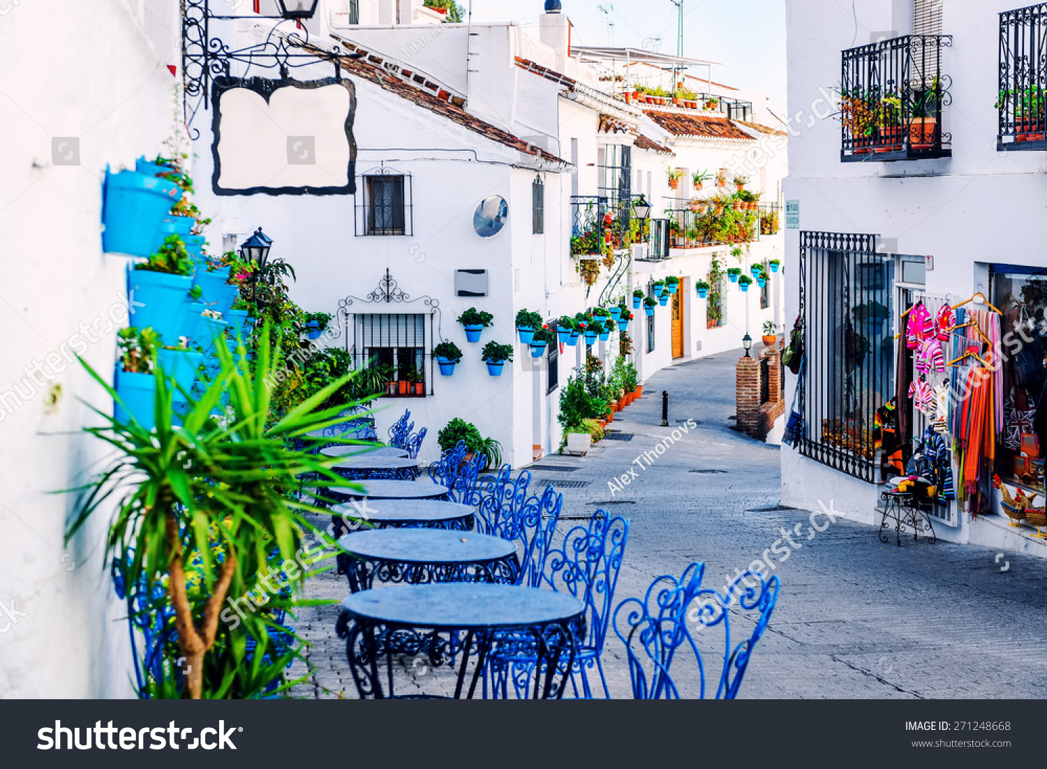 Mijas street Charming white village in Andalusia Costa del Sol Southern Spain