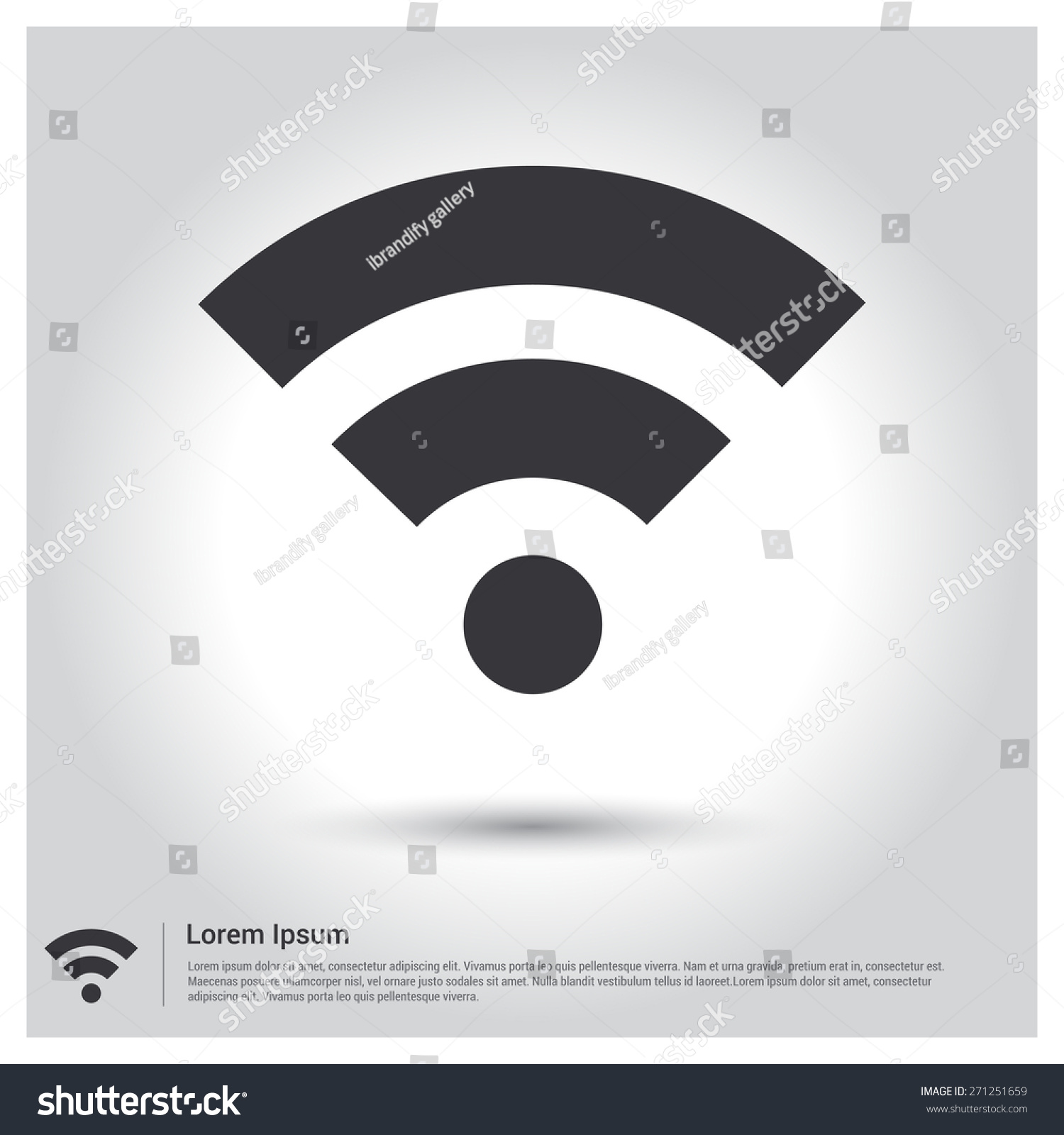 Wifi icon wi fi icon pictogram icon on gray background vector voltagebd Choice Image