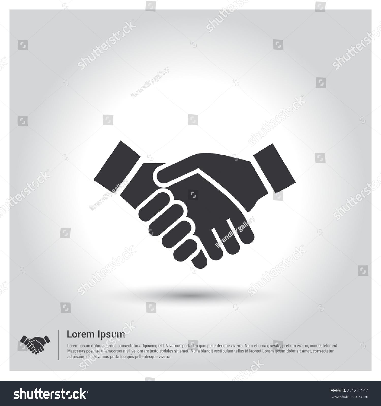 Handshake icon business agreement icon pictogram icon on gray voltagebd Choice Image