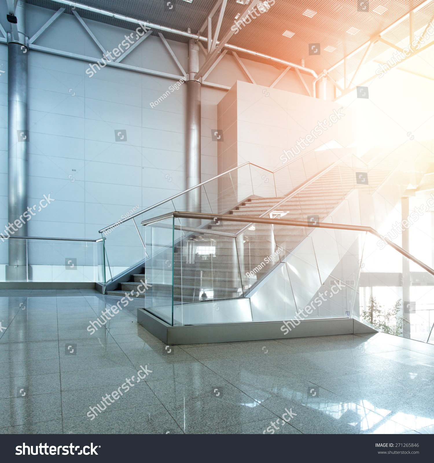 Interior of modern office building stock photo 271265846 for Modern office building interior