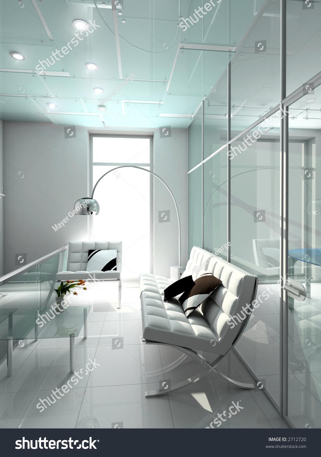modern interior office stock. Modern Interior 3d Render Office Exclusive Stock Illustration 2712720 - Shutterstock