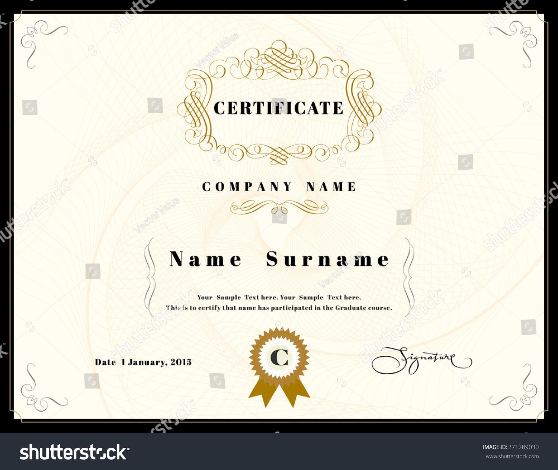 Certificate appreciation design template element emblem stock certificate of appreciation design template element with emblem yelopaper Image collections