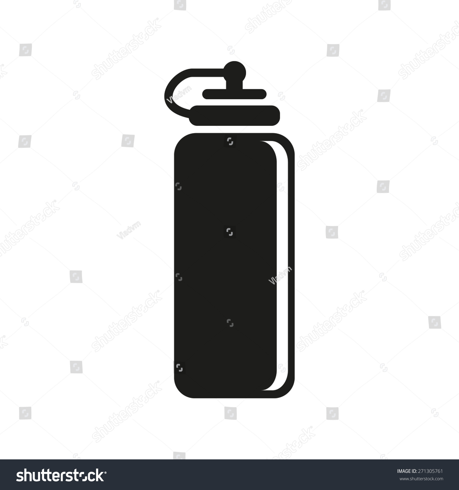 Sports Water Bottle Icon Bottle Symbol Stock Vector Royalty Free
