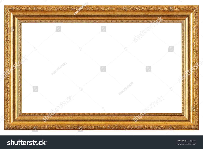 golden painting frame