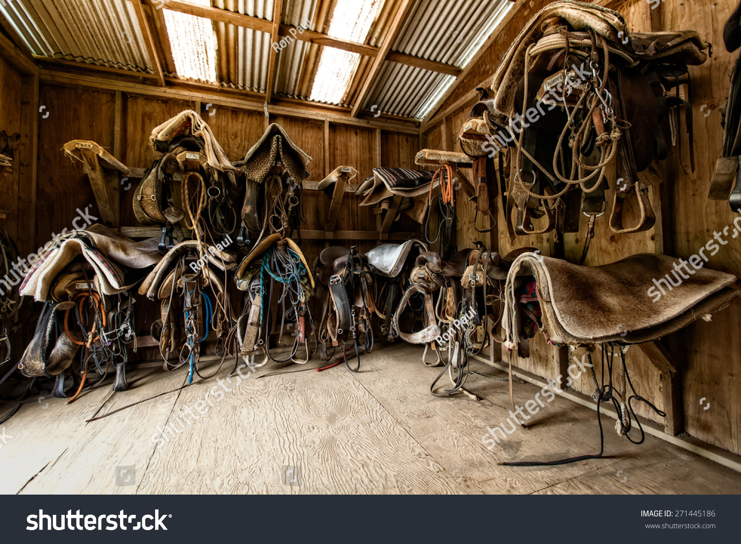 Tack Room Waipio Ridge Stables On Stock Photo (Edit Now