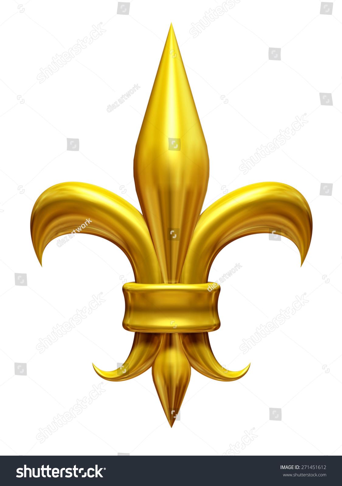Golden fleurdelis lily gladiolus symbol french stock illustration golden fleur de lis lily gladiolus symbol of the french monarchy biocorpaavc Gallery