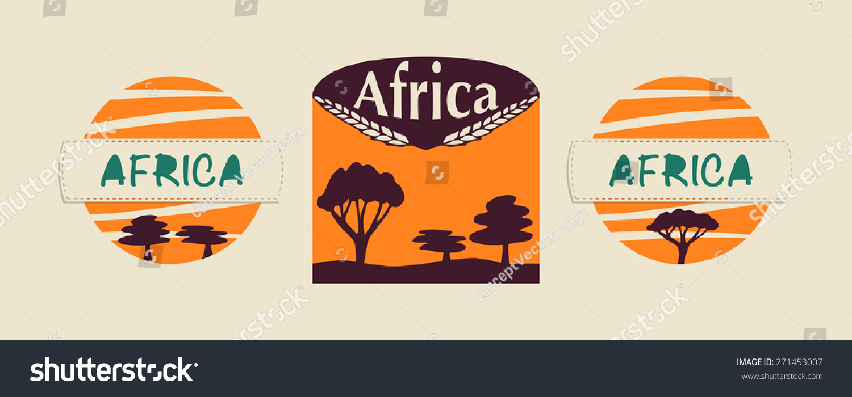 Set Logos Life Safari Africa Could Stock Vector Royalty Free