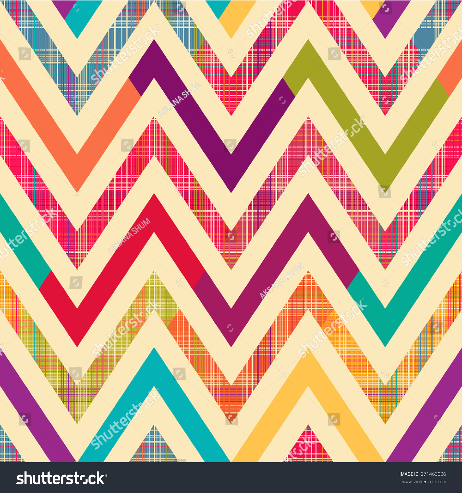 seamless bright chevron pattern background stock vector