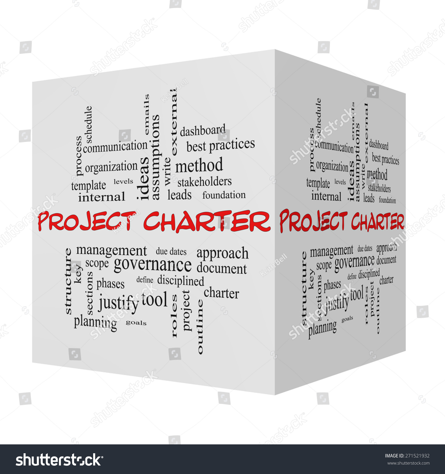 Project Charter 3d Cube Word Cloud Stock Illustration 271521932 ...