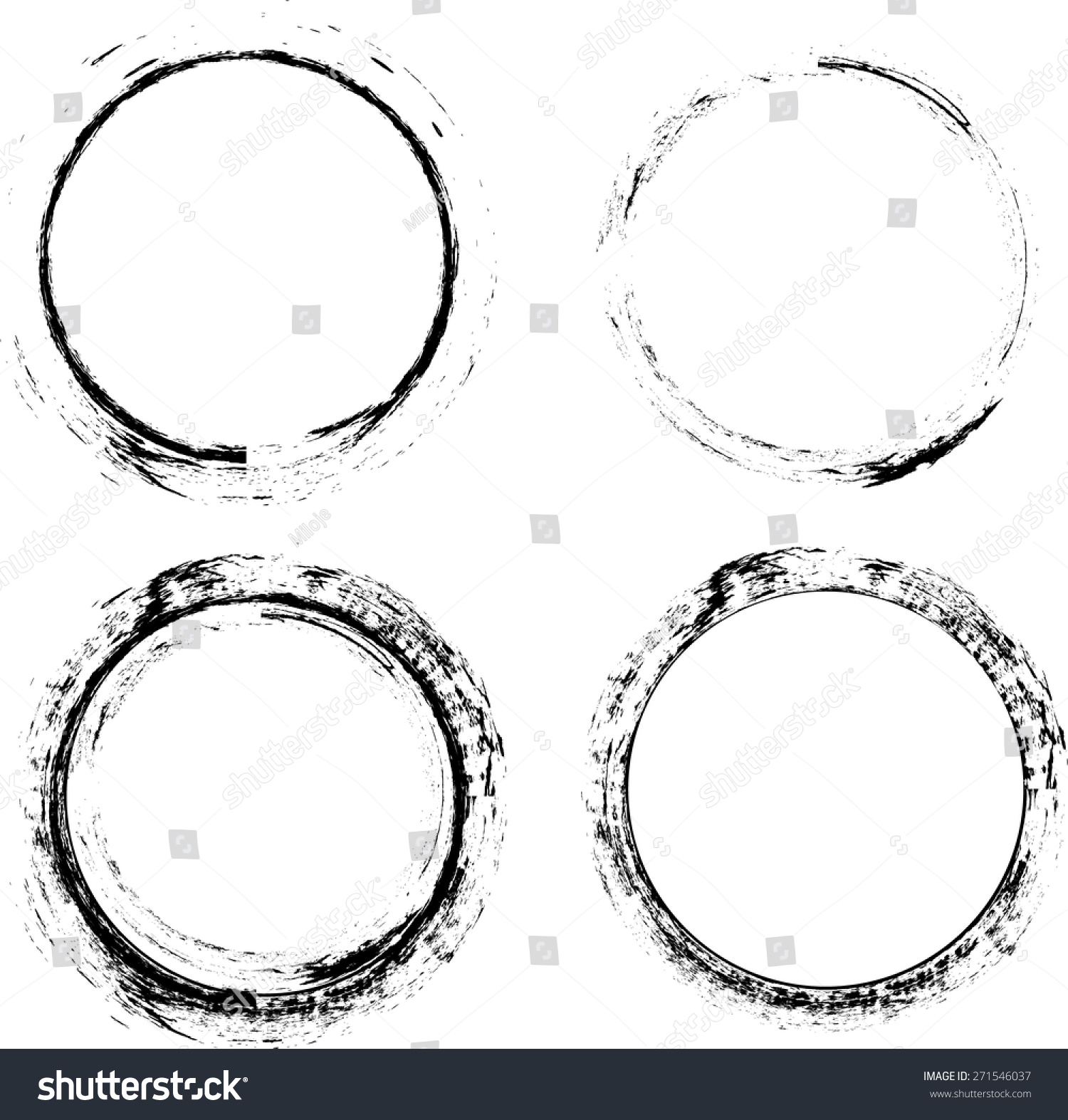 Coffee Stain Ring Vector Vector Circle Stock Vector ...