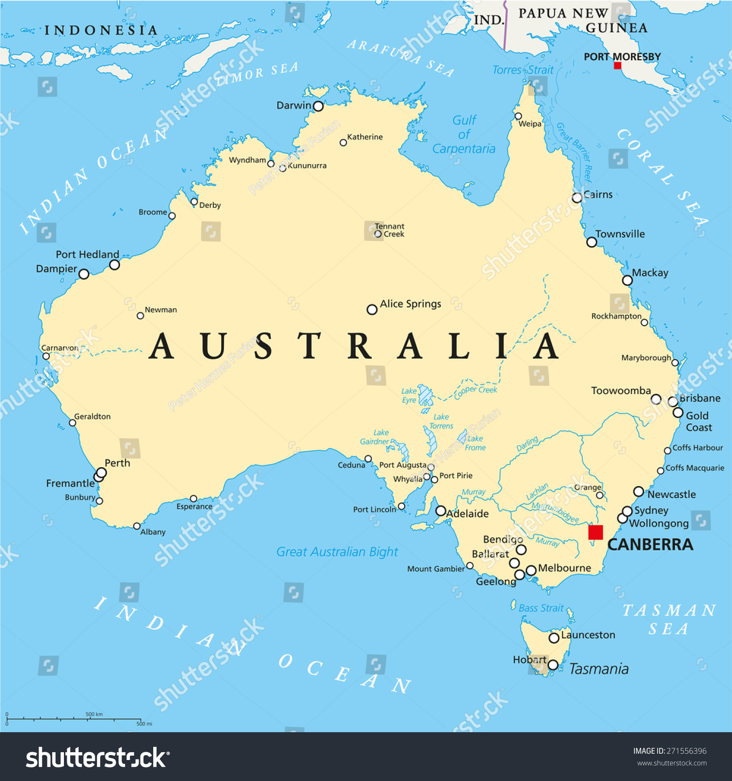 Australia Political Map With Capitals My