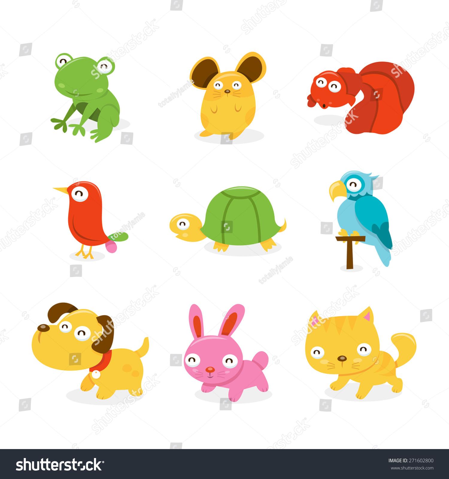 cartoon vector illustration set various happy stock vector