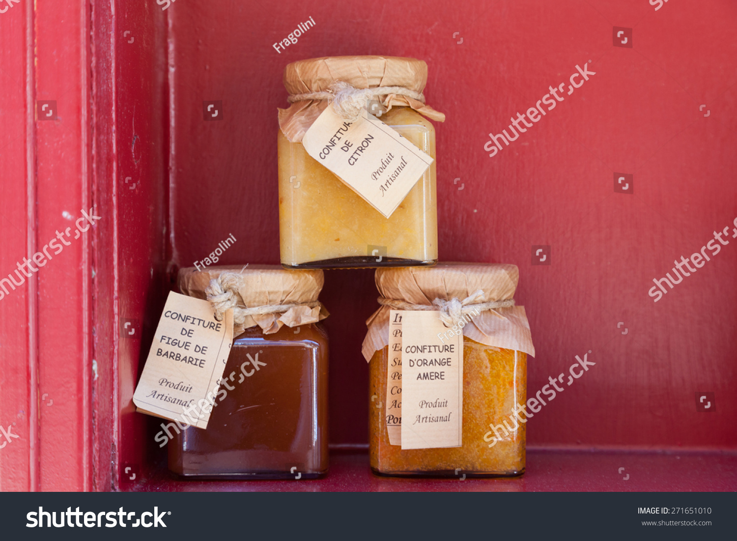 jars various jams local grocery store stock photo. Black Bedroom Furniture Sets. Home Design Ideas
