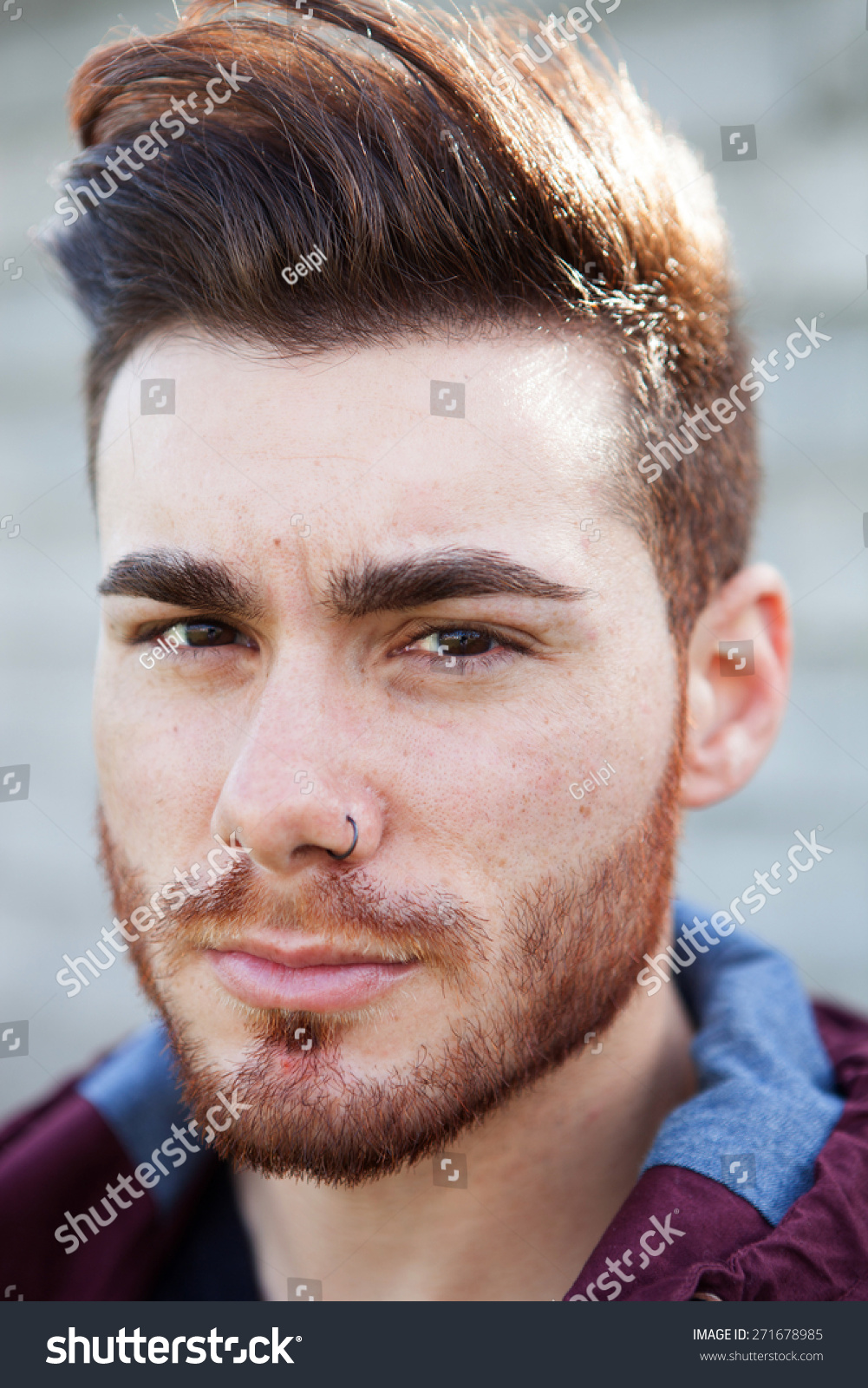Portrait Casual Cool Young Man Beard Stock Photo Edit Now