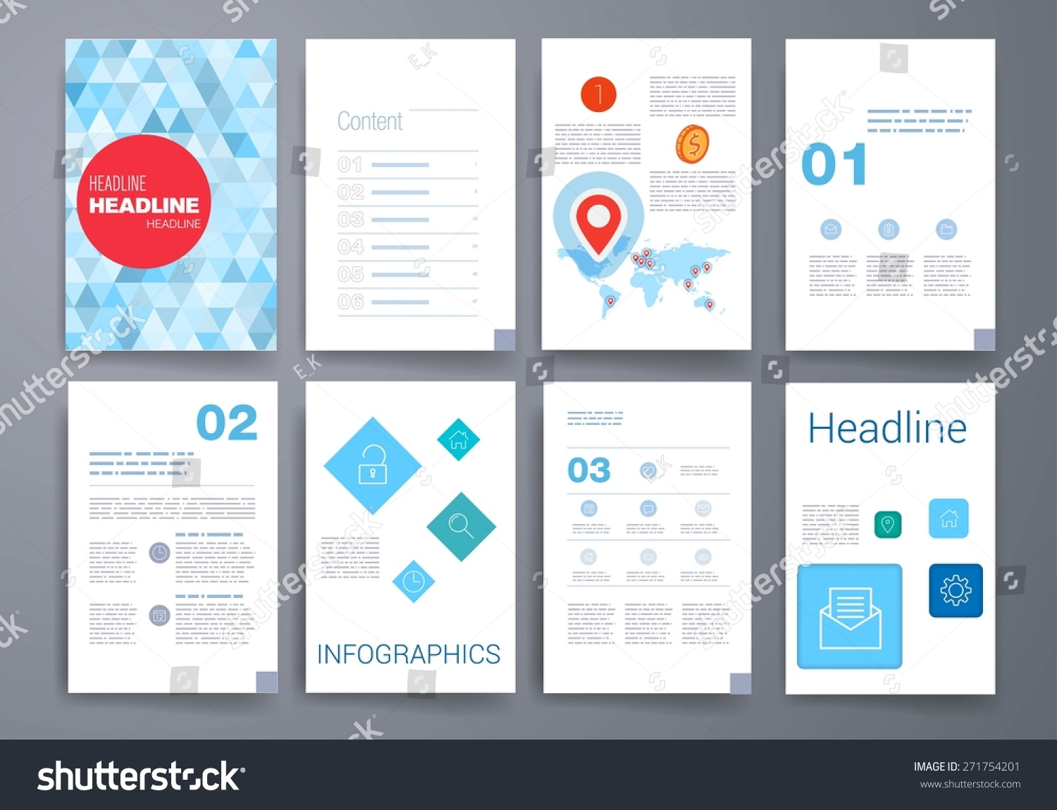 Set vector poster templates abstract background stock vector set of vector poster templates abstract background for business documents flyers posters accmission Gallery